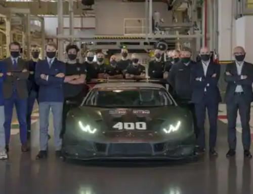 Lamborghini celebrates production of 400th Huracán racing car